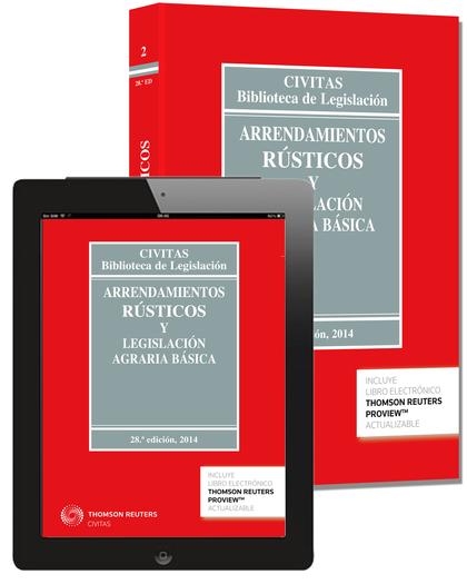 ARRENDAMIENTOS RÚSTICOS Y LEGISLACIÓN AGRARIA BÁSICA (PAPEL + E-BOOK).
