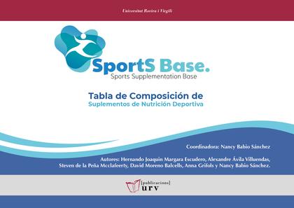 SPORTBASE. TABLA DE COMPOSICIÓN DE SUPLEMENTOS DE NUTRICIÓN DEPORTIVA.