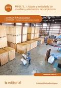 Ajuste y embalado de muebles y elementos de carpintería. MAMD0209
