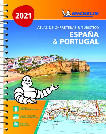 ESPAÑA & PORTUGAL (FORMATO A-4) (ATLAS DE CARRETERAS Y TURÍSTICO ).