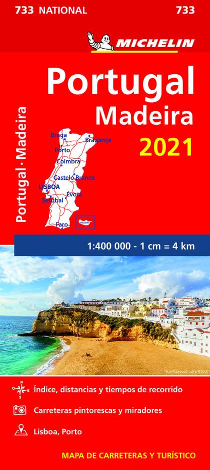 MAPA NATIONAL PORTUGAL, MADEIRA 2021.