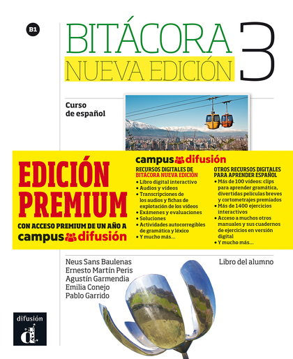 BITÁCORA 3 ALUMNO + CD + CAMPUS   (EDICIÓN PREMIUM)
