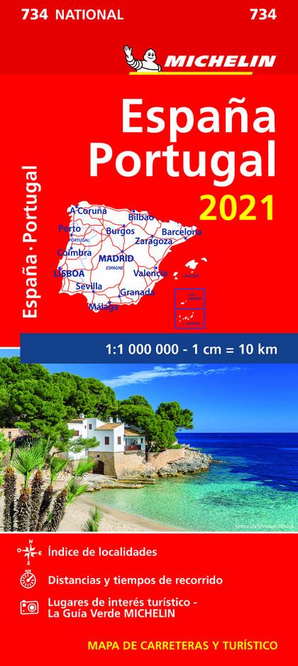 MAPA NATIONAL ESPAÑA - PORTUGAL 2021.