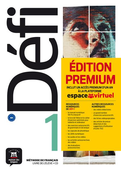 DÉFI 1 LIVRE DE L´ÉLÈVE + CD VERSION PREMIUM. A1