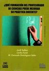 QUE FORMACION DEL PROFESORADO CIENCIAS PUEDE MEJORAR PRACTI