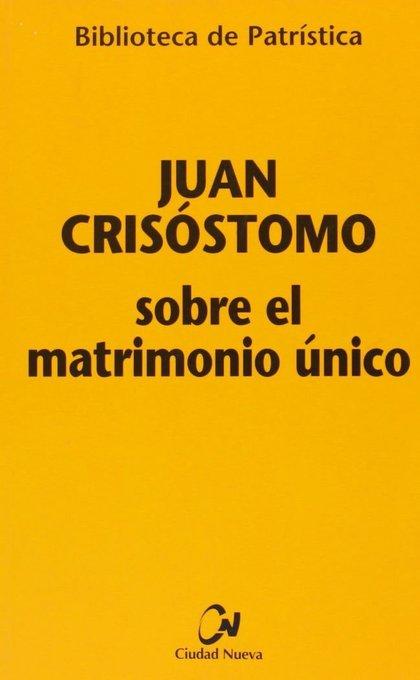 SOBRE EL MATRIMONIO ÚNICO.