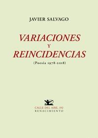 VARIACIONES Y REINCIDENCIAS                                                     (POESÍA 1978-20
