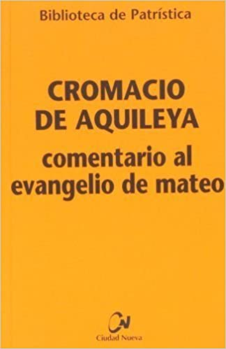 COMENTARIO AL EVANGELIO DE MATEO.