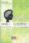 PALABRAS. EXPRESIÓN Y VOCABULARIO. CUADERNO 1 NIVEL 1.
