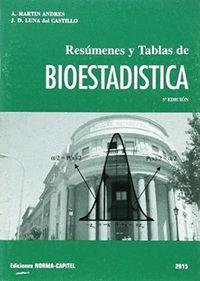 RESÚMENES Y TABLAS DE BIOESTADÍSTICA