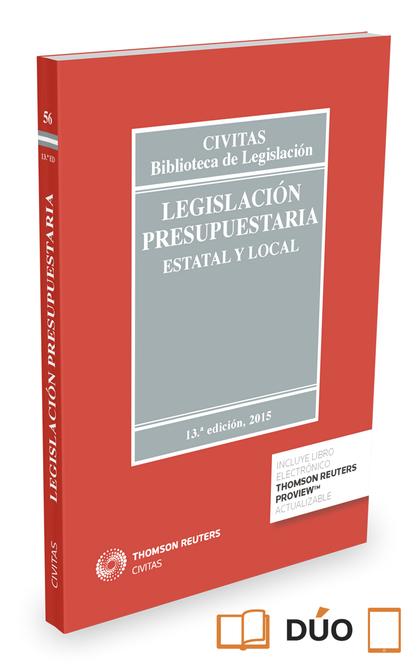 LEGISLACIÓN PRESUPUESTARIA (PAPEL + E-BOOK). ESTATAL Y LOCAL