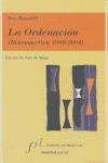 LA ORDENACIÓN (RETROSPECTIVA 1980-2004)