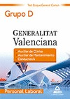 PERSONAL LABORAL, GRUPO D, GENERALITAT VALENCIANA. TEST DEL  BLOQUE GENERAL COMÚN