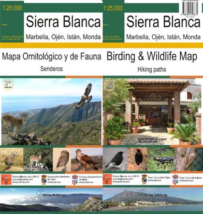 MAPA ORNITOLÓGICO Y DE FAUNA DE SIERRA BLANCA : SENDEROS