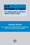LEY DE SOCIEDADES DE CAPITAL : TEXTO REFUNDIDO APROBADO POR REAL DECRETO LEGISLATIVO 1-2010, DE