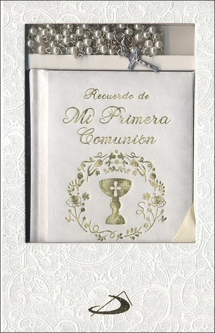 ESTUCHE PRIMERA COMUNION. MODELO 2                                              ORACIONES Y ROS