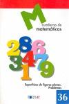 SUPERFICIES DE FIGURAS PLANAS, PROBLEMAS, MATEMÁTICAS. CUADERNO 36