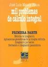 MIL PROBLEMAS DE CALCULO INTEGRAL 1ª PARTE