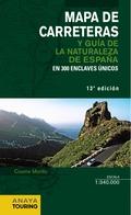 MAPA DE CARRETERAS Y GUÍA DE LA NATURALEZA DE ESPAÑA E. 1:340000