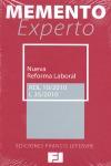 MEMENTO EXPERTO NUEVA REFORMA LABORAL : RDL 10/2010 L35/2010