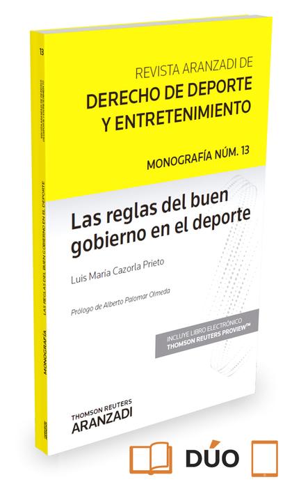 LAS REGLAS DEL BUEN GOBIERNO EN EL DEPORTE  ( PAPEL + E-BOOK ).
