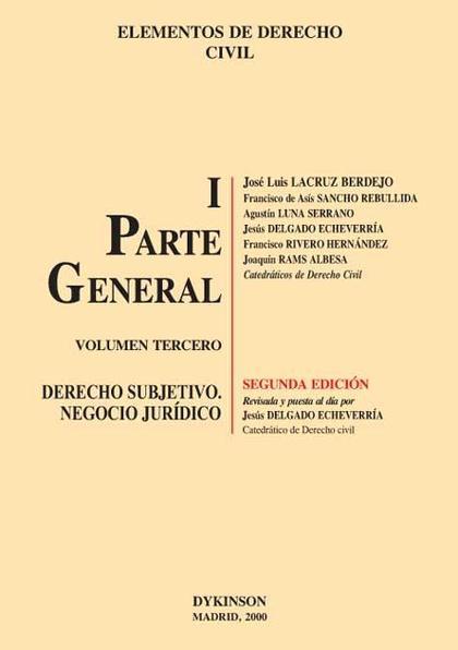 Elementos de Derecho Civil I Parte General