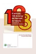 EL ARTICULO 108 DE LA LEY DEL MERCADO DE VALORES.