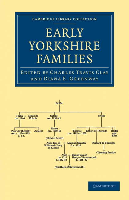 EARLY YORKSHIRE FAMILIES