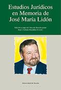 ESTUDIOS JURÍDICOS EN MEMORIA DE JOSÉ MARÍA LIDÓN