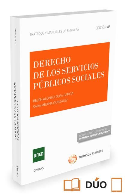 DERECHO DE LOS SERVICIOS PÚBLICOS SOCIALES (PAPEL + E-BOOK).