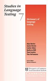 STUDIES LANGUAGE TESTING 7 - DICTIONARY OF LANGUAG