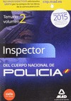 INSPECTOR DEL CUERPO NACIONAL DE POLICIA VOL.2 2015. CIENCIAS JURIDICAS