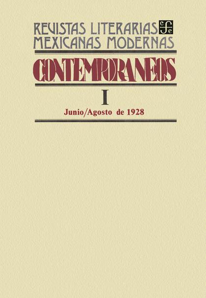 Contemporáneos I, junio-agosto de 1928
