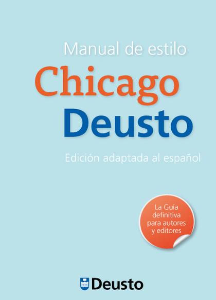 MANUAL DE ESTILO CHICAGO-DEUSTO