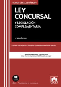 LEY CONCURSAL Y LEGISLACIÓN COMPLEMENTARIA                                      CONTIENE CONCOR