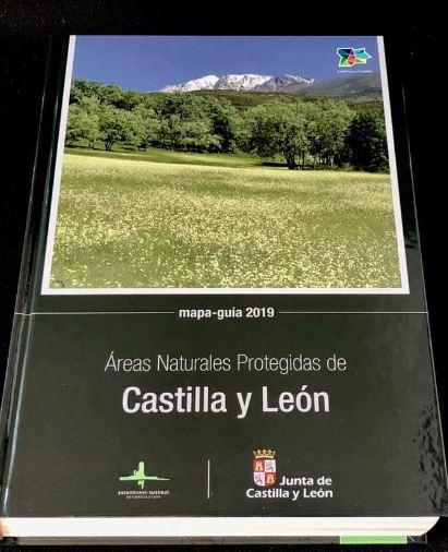 AREAS NATURALES PROTEGIDAS DE CASTILLA Y LEON. MAPA GUIA 2019.