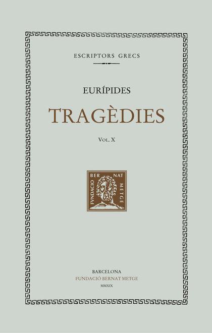 TRAGEDIES VOL X - RTC - CAT. EL CICLOP. RESOS