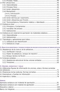 SOLDADURA DE TERMOPLÁSTICOS : CON O SIN MATERIAL DE APORTACIÓN