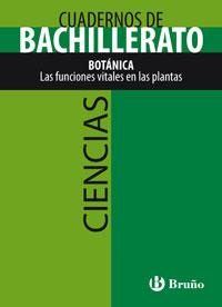 CIENCIAS, BOTÁNICA, LAS FUNCIONES VITALES EN LAS PLANTAS, 1 BACHILLERATO