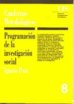 PROGRAMACION INVESTIGACION SOCIAL CUADERNOS METODOLOGICOS 8
