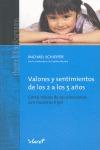 VALORES Y SENTIMIENTOS DE LOS 2 A LOS 5 AÑOS. CÓMO HABLAR DE LAS EMOCIONES CON NUESTROS HIJOS