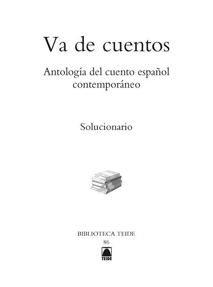 GUÍA DIDÁCTICA. VA DE CUENTOS - BIBLIOTECA TEIDE.