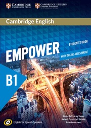 CAMBRIDGE ENGLISH EMPOWER FOR SPANISH SPEAKERS B1 STUDENT´S BOOK WITH ONLINE ASS.