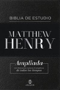 BIBLIA DE ESTUDIO MATTHEW HENRY- BONDED LEATHER (PIEL FABRICADA)