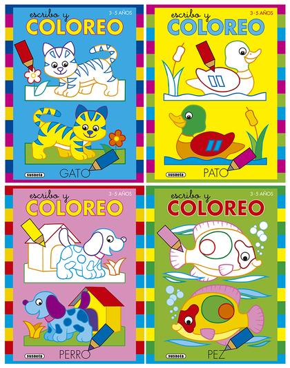 ESCRIBO Y COLOREO 3-5 AÑOS (4 TÍTULOS).