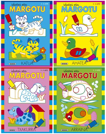 IDATZI ETA MARGOTU 3-5 URTE (4 TITULU).