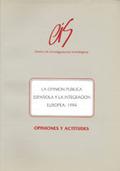 La opinión pública española y la integración europea, 1994