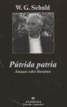 PÚTRIDA PATRIA: ENSAYO SOBRE LITERATURA