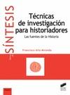 TÉCNICAS DE INVESTIGACIÓN PARA HISTORIADORES