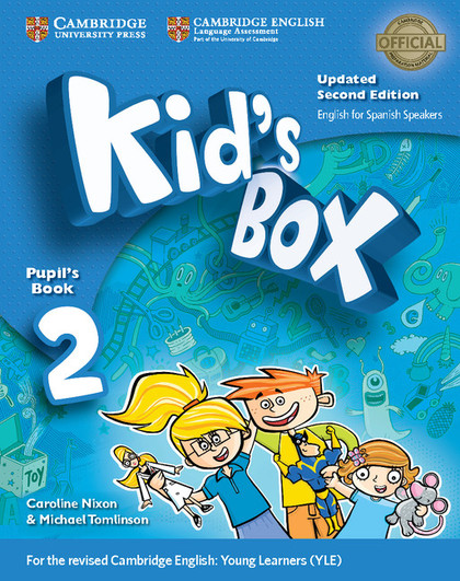 KID´S BOX LEVEL 2 PUPIL´S BOOK WITH MY HOME BOOKLET UPDATED ENGLISH FOR SPANISH.